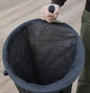 Bin Bag Holder with metal ring and rubber handle