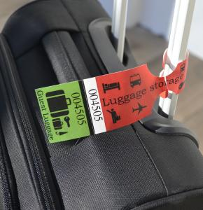 Luggage Tag with black print