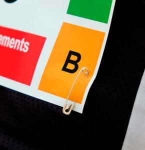Safety Pin attached to Race Bib Number