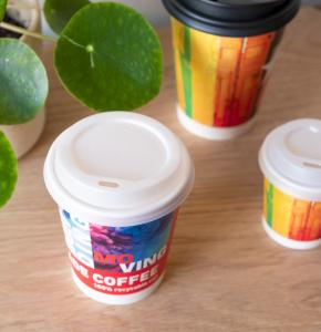 Lids made from bioplastic for Paper Cups