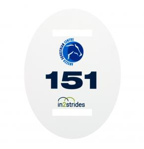 Dressage Bridle Number with full colour print