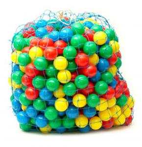 Wash Net filled with Ball Pit Balls