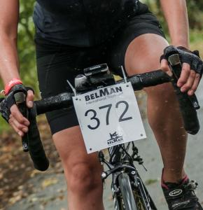 Cycling Race Number with black print