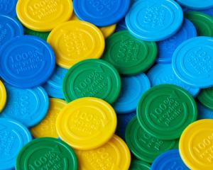 Embossed Tokens made from recycled plastic