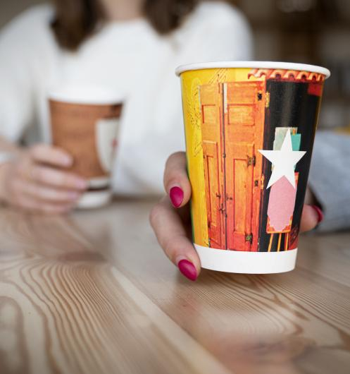 Recyclable Paper Cups printed with full colour