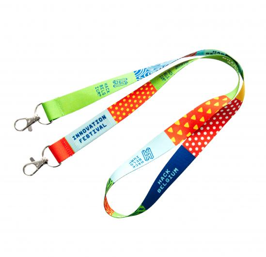 Lanyard R-PET con stampa in quadricromia